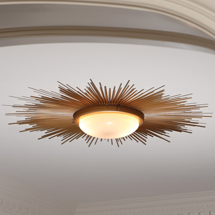 Pulp Home - Sunburst Light FIxture - Gold