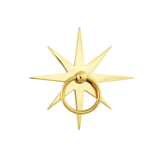 Pulp Home - Starburst Pull Brass Pulp Home - Starburst Pull, Star Hardware, Nautical Hardware,