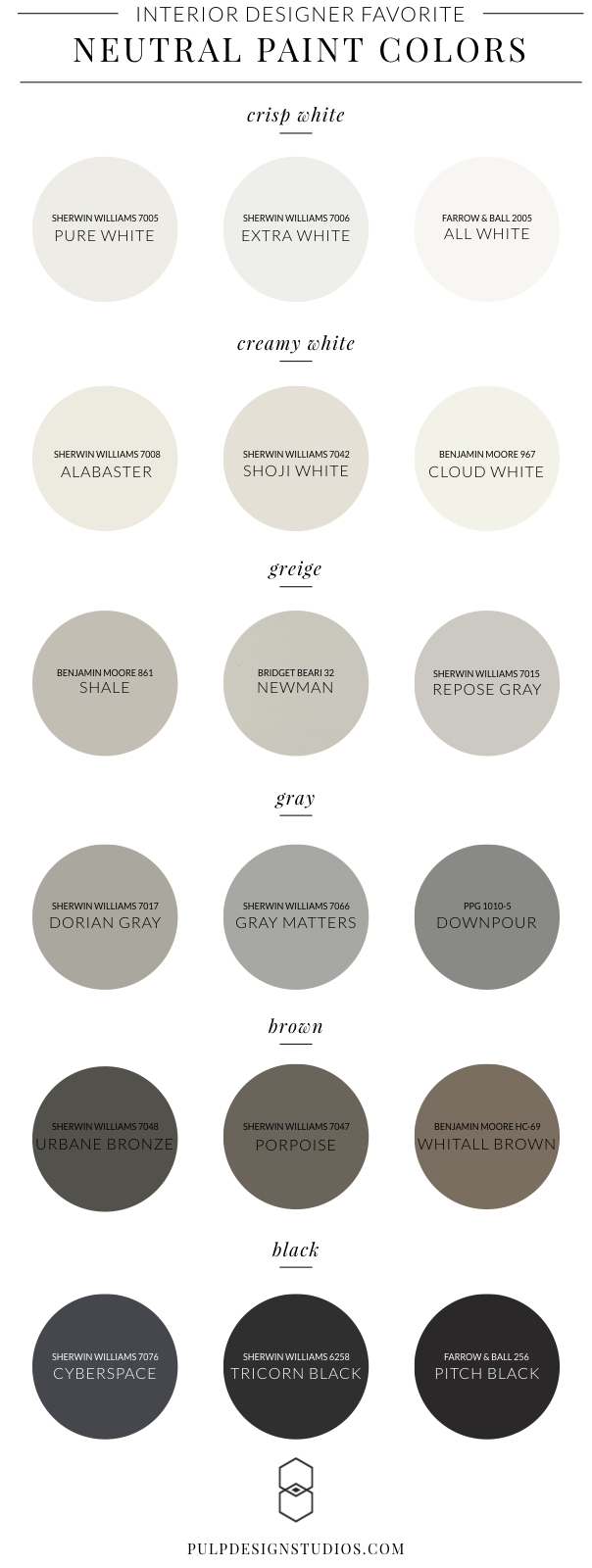 Best Neutral Paint Colors - Interior Design.001