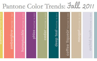 The Warm Side of Pantone Color Trends: Fall 2011