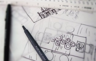 DIFFA Glam Tablescape: The Drawing Board