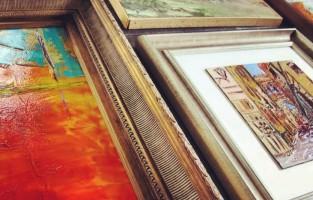 Pulp Install: An Elegant Family Room Gallery Wall