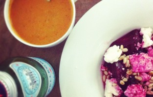The Best Tomato Soup Recipe + A Roasted Beet Salad