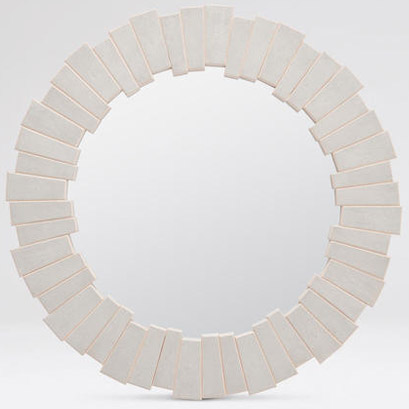 Pulp Home - Ivory Claude Mirror Medium