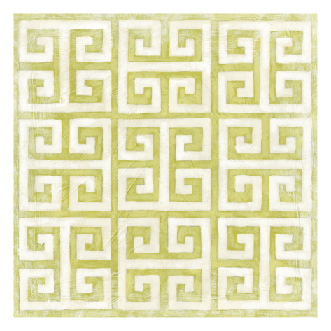 Modern Symmetry Print, Green