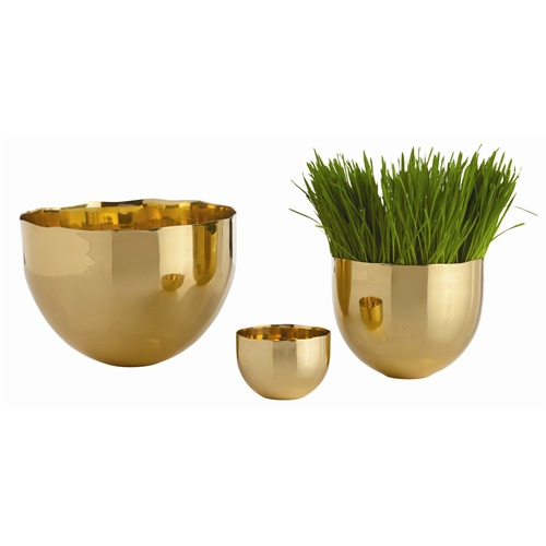 Pulp Home – Stockholm Polished Brass Bowls, Set of 3