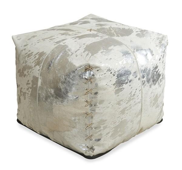 Aldo Metallic Hide Pouf Pulp Design Studios Delectable Hide Pouf