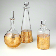 Pulp Home – Gold Crosshatch Decanters
