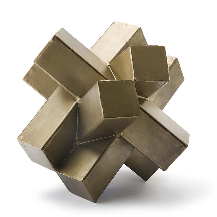 Pulp Home - Abstract Brass Sculpture