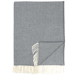 Pulp Home - Herringbone Throw - Charcoal