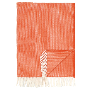 Pulp Home - Herringbone Throw - Orange
