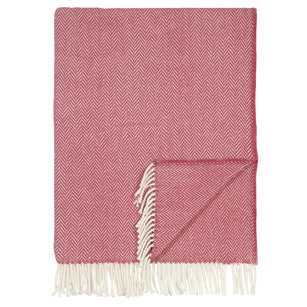 Pulp Home - Herringbone Throw- Red