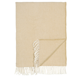 Pulp Home – Herringbone Throw – Soft Yellow