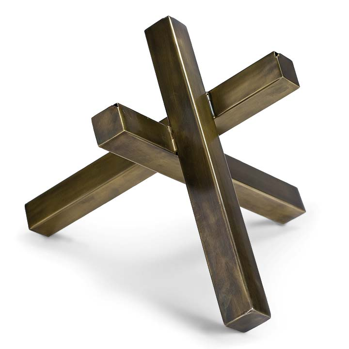 Pulp Home - Intersecting Brass Sculpture