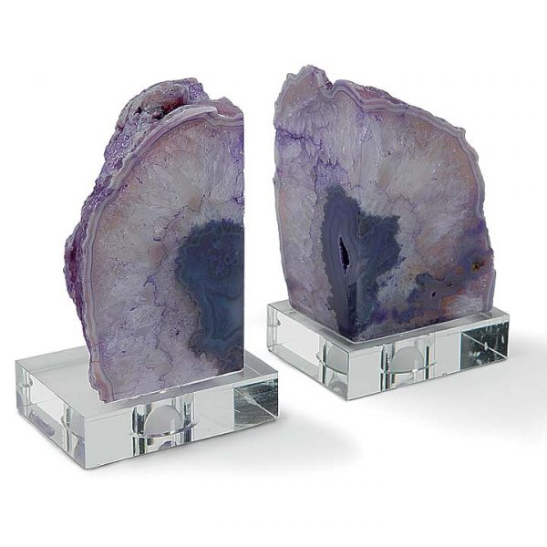 Pulp Home – Purple Geode Book Ends