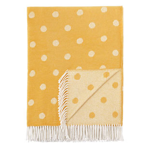 Pulp Home - Polka Dot Throw - Yellow