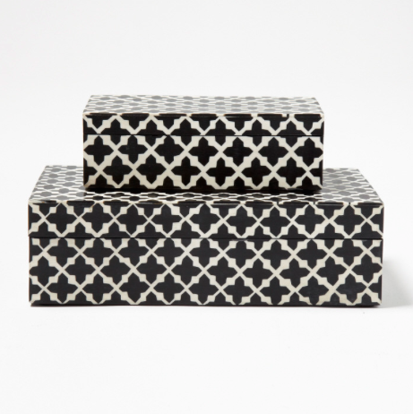 Pulp Home Black White Patterned Box