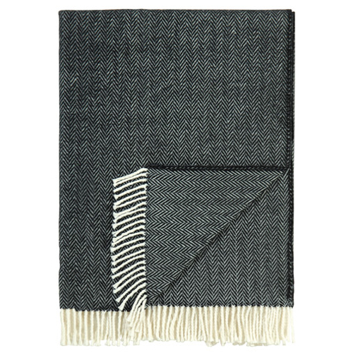 Pulp Home - Herringbone Throw - Midnight