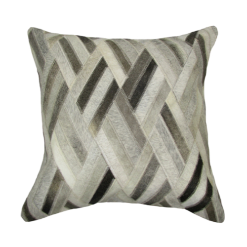 Pulp Home - Leather Diamond Pillow Gray