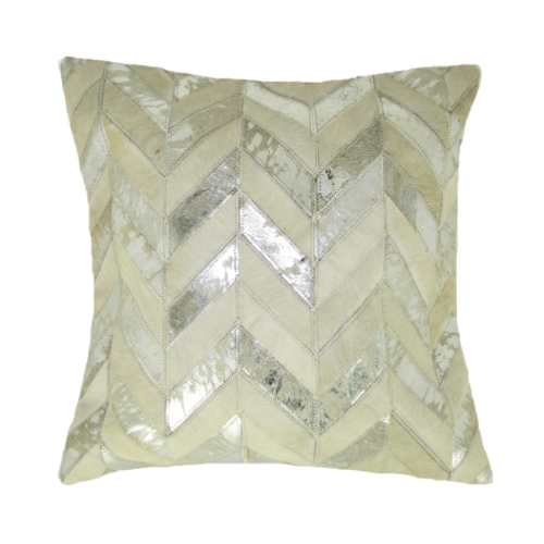 Pulp Home - Leather V Pillow Silver