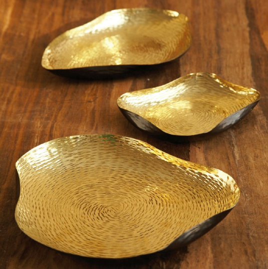 Pulp Home – Textured Gold Trays
