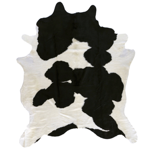 Pulp Home – Black and White Hide Rug