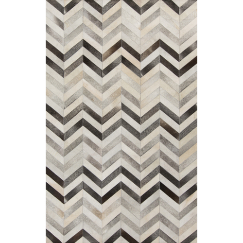 Pulp Home – Gray Chevron Rug