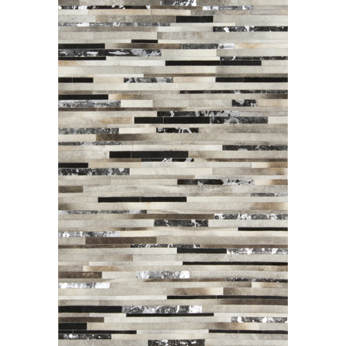 Pulp Home – Gray Hide Stripes Rug