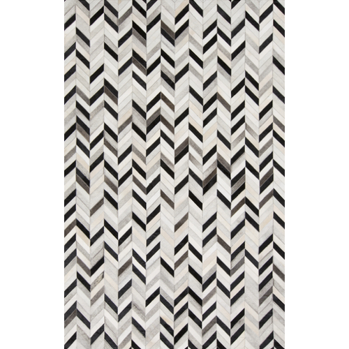 Pulp Home - Grey Herringbone Hide Rug
