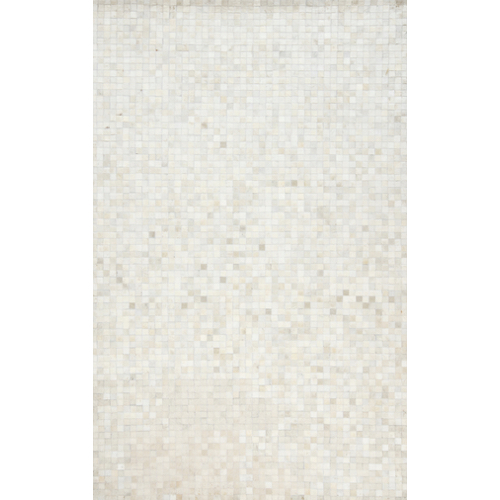 Pulp Home – Ivory Mosaic Hide Rug
