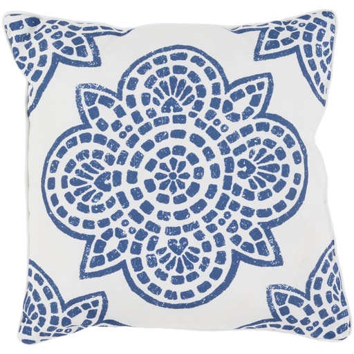 Pulp Home – Floral Mosaic Pillow Blue