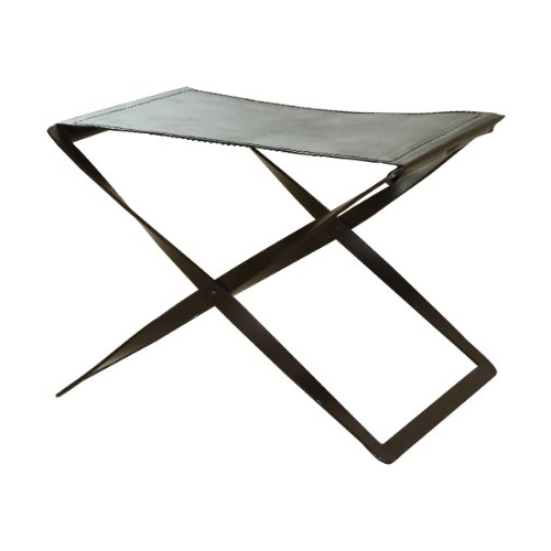 Pulp Home – Folding Stool Brown Leather