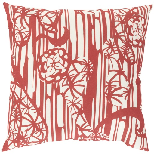 Pulp Home - Japanese Garden Pillow Red