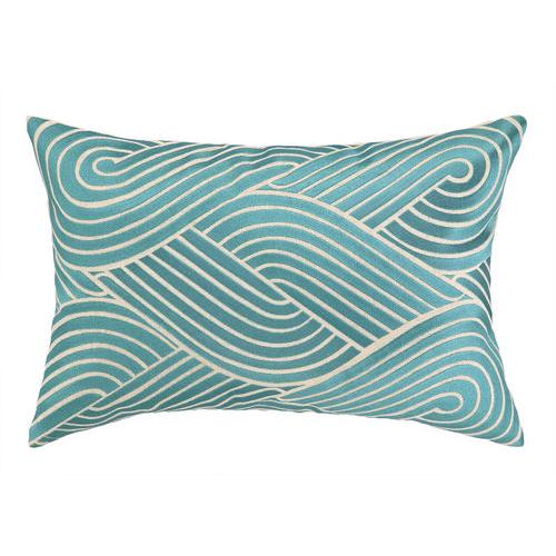 Osaka Waves Pillow Sky Pulp Design Studios