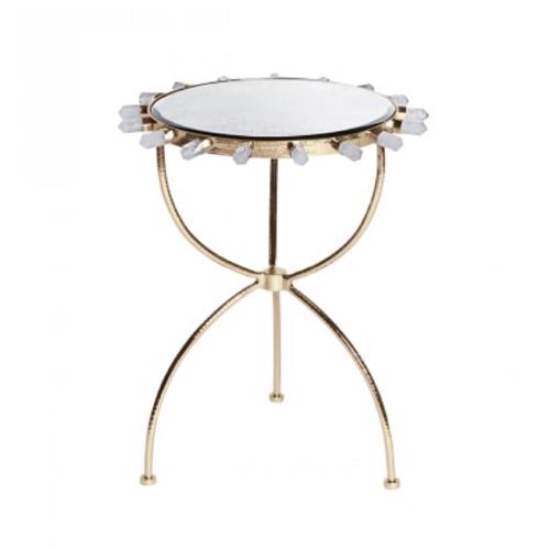 Pulp Home - Quartz Brass Side Table