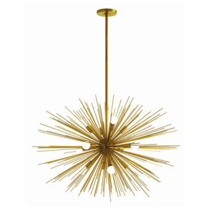 Pulp Home – Starburst Antique Brass – L1029