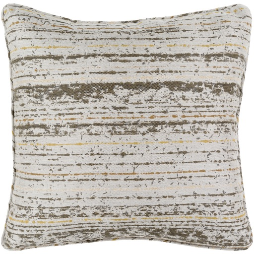 Pulp Home - Weathered Stripe Pillow Olive