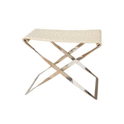 Pulp Home - Woven Leather Folding Stool