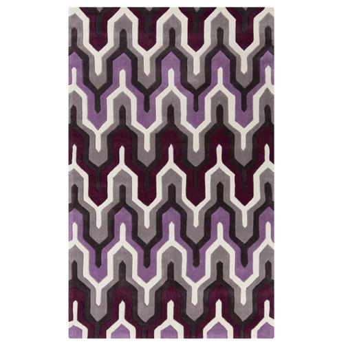 Pulp Home - Zig Zag Rug Purple
