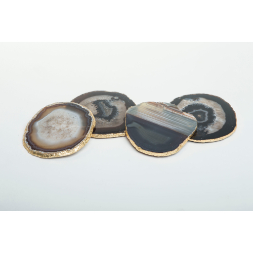 Pulp Home – Agate Coaster Set Smoke