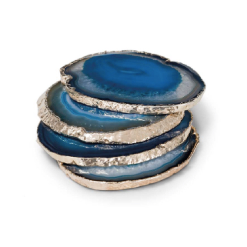 Pulp Home – Agate Coasters Teal