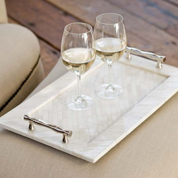 Pulp Home – Bamboo Handled Bone Tray