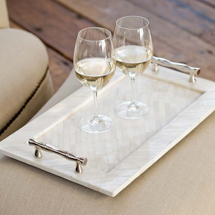 Pulp Home - Bamboo Handled Bone Tray