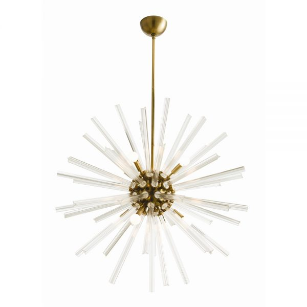 Pulp Home Hanley Large Chandelier Brass