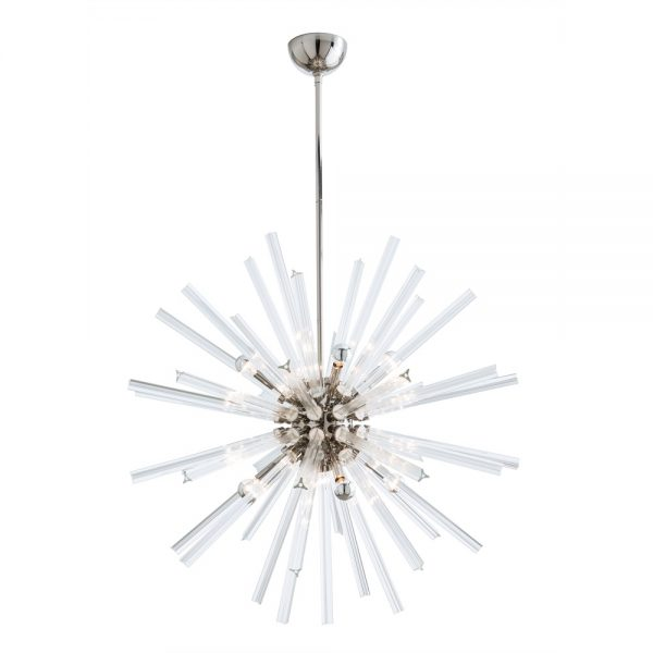 Pulp Home – Hanley Large Chandelier Nickel