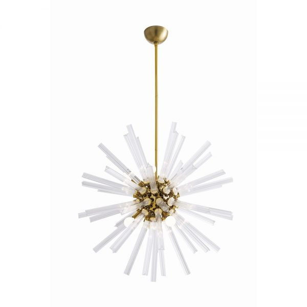 Pulp Home – Hanley Small Chandelier Brass