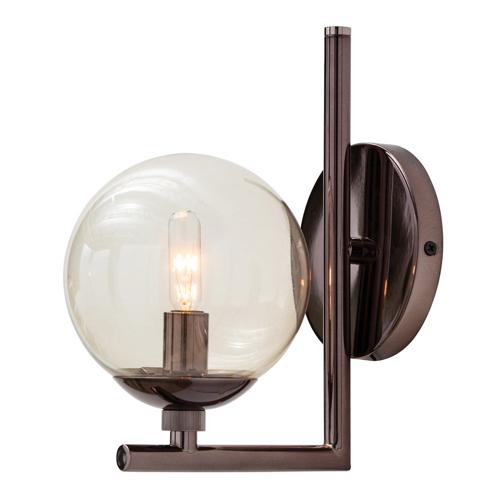 Pulp Home – Quimby Sconce Brown Nickel