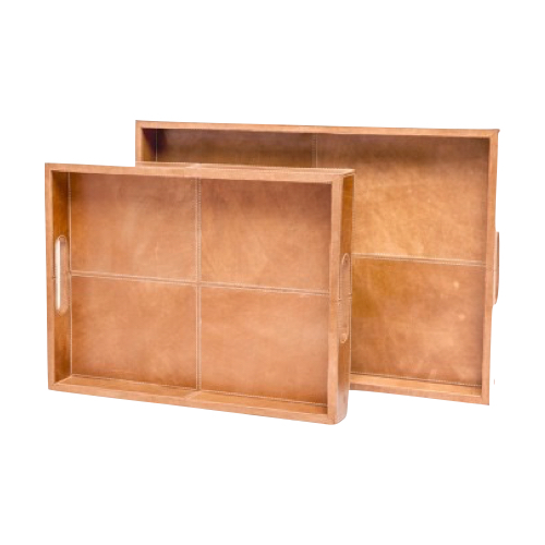 Pulp Home - Camel Leather Trays
