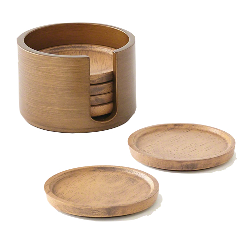 Pulp Home – Chic walnut coasters