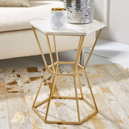 Pulp Home – Hexagonal Marble Table